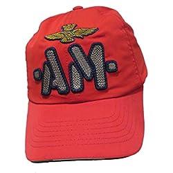 Aeronautica Militare - Gorra de béisbol - para Hombre Rojo 19214 Rosso Talla única