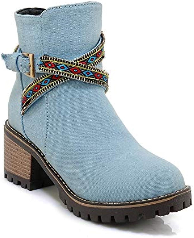 Cowboy da donna     Stivali occidentali Stivali casual autunno   inverno denim Tacco spesso Stivaletti con punta...   Prodotti di alta qualità  c3d2f2