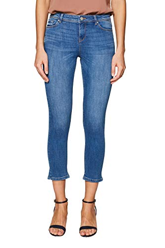 ESPRIT Damen 049EE1B004 Skinny Jeans Blau (Blue Medium Wash 902) W30 (Herstellergröße: 30/25) Blue Denim Capri-jeans