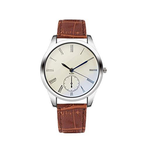 Mode Frauen Herrenuhr Analog Casual Braun Lederband Paar Chenang Uhren Kasig Paar Uhr Braun Herren Damen Freundschafts Armbanduhr Business Casual