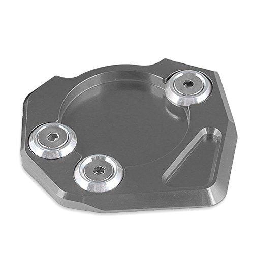 Aluminium-basis-pad (XX ecommerce Motorrad CNC Aluminium Seite Ständer Ständer Basis Teller unterstützen, Enlarger Foot Pads für 2013-2015 KTM Duke 200 390 2014)