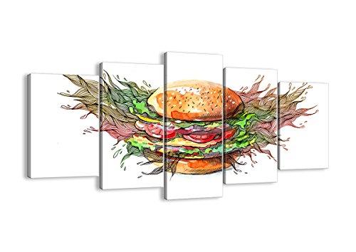 Bild auf Leinwand - Leinwandbilder - fünf Teile - Breite: 160cm, Höhe: 85cm - Bildnummer 2981 - fünfteilig - mehrteilig - zum Aufhängen bereit - Bilder - Kunstdruck - EA160x85-2981