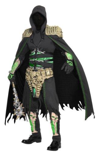 Räuber Kostüme Halloween Erwachsene (Sensenmann Seelen Räuber Halloween-Kostüm schwarz-grün)