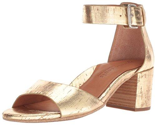 Gentle Souls Women's Christa Mid-Heel Ankle Strap Heeled Sandal