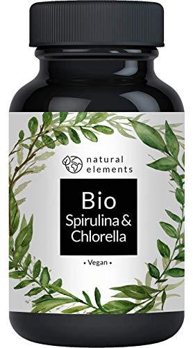 Bio Spirulina & Chlorella Presslinge - 500 Tabletten - Einführungspreis - Zertifiziert Bio,...