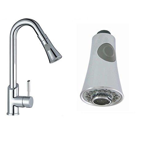 Chrom Küche Zerstäuber Wasserhahn Düse ausziehbare sprühkopf Ersatz - Duschkopf 2- Function Kegel -