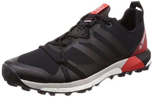 adidas Terrex Agravic Chaussure Course Trial - SS18 noir/gris carbone/rouge vif