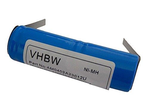 vhbw NiMH batería 1200mAh (2.4V) para cepillo de dientes Braun Oral-B Sonic Complete todos los modelos de 2 y 3 fases por RS-MH 3941, 2N-600AE, etc..