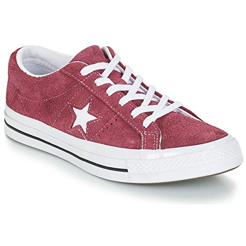 Converse Lifestyle One Star Ox, Zapatillas Unisex Adulto, Rojo (Deep Bordeaux White 625), 42 EU