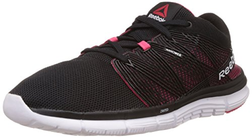 Reebok Women's Reebok Zquick Goddess 2.0 Black, Pink and White Mesh Running Shoes  – 6 UK 41q1AL v2jL