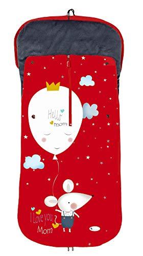 Saco POLAR de Invierno de Silla de Paseo - Universal-Bugaboo-Mclaren - Color: Rojo - OFERTA