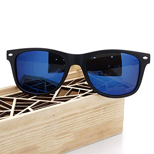 CWPYB Paar-Sonnenbrillen, Matte Sonnenbrille polarisierte Linsen-Sonnenbrillen UV-Schutz Shadow Shadow Wooden Frame Sunshade Mirror für Travel Cycling Fishing Beach (4 Farben),D