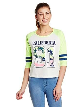 Unshackled Women's Body Blouse T-Shirt (US70-White_XL)