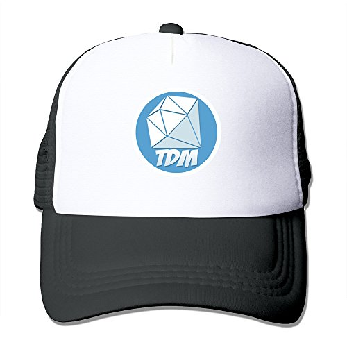 hittings-youtube-dantdm-logo-adjustable-trucker-hats-caps-men-women-black