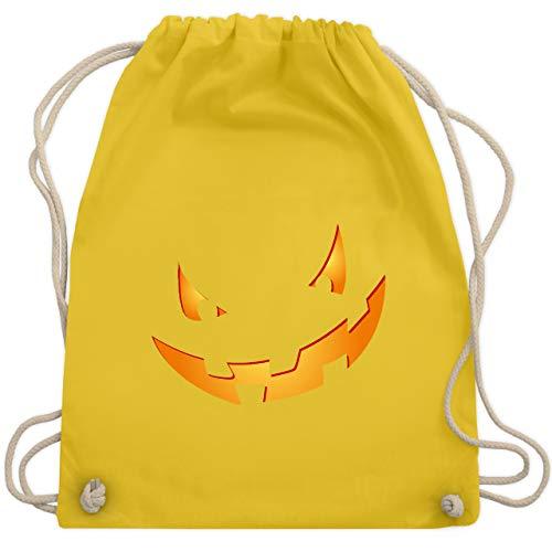 Halloween - Kürbisgesicht klein Pumpkin - Unisize - Gelb - WM110 - Turnbeutel & Gym Bag