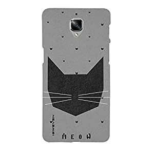 iSweven printed oneplus3_3168 Meow Design Multicolored Matte finish Back case cover for OnePlus 3