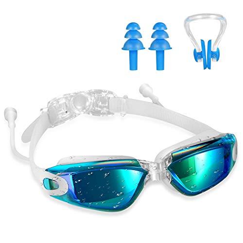 Lemedy Gafas de natación antivaho