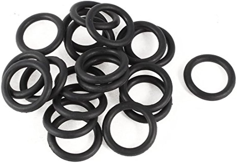 20 piezas de goma del anillo o sello de aceite Lavadora reemplazo Negro 24mm x 3.5mm