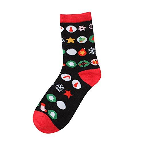 FIRSS Frauen Socken Weihnachtssocken Stützstrümpfe Hoch Über das Knie Socks Mesh Perspektive Stoppersocken Reizvolles Lange Kniestrümpfe