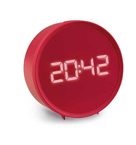 ADB 380 LED Wecker mit Bluetooth Lautsprecher, 110 x 45 mm, rot