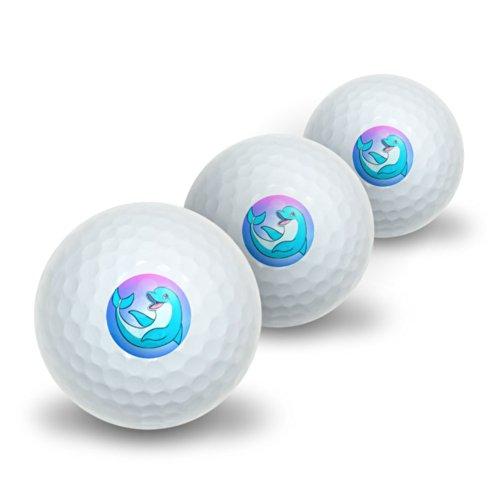 n–Beach Ocean Urlaub Neuheit Cute Golf Balls 3Pack (Cartoon Beach Ball)