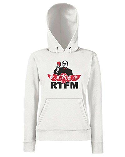 T-Shirtshock - Sweats a capuche Femme TCO0122 mao tse tung rtfm Blanc