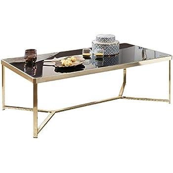 Glasplatte 120 X 80 : wohnling couchtisch tara 120 x 60 cm schwarz gold beistelltisch metall glas tisch mit ~ Watch28wear.com Haus und Dekorationen