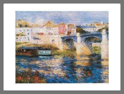 Pierre Auguste Renoir Brücke (Germanposters Pierre Auguste Renoir Brücke in Chatou Poster Bild Kunstdruck im Alurahmen Champagne 24x30cm)