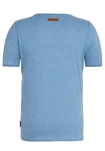 Naketano Male T-Shirt Bumsebumse Shirt IV Blau -Light Blue Melange