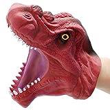 DIYARTS Dinosaurio Guantes Marionetas Mano Juego rol Realista Tiranosaurio Juguetes Cabeza Rex Juguete Interactivo Entre Padres Hijos (Rojo)