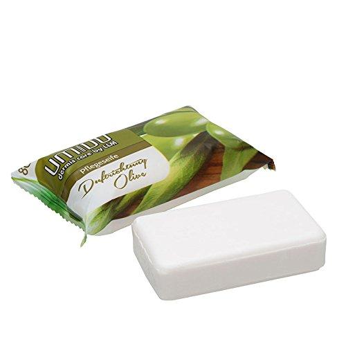 UMIDO Seife 80 g Olive - Hand-Seife - Waschstück - Seifenstück für ihre Körperpflege - Festseife - 1 x 80 g (4.)