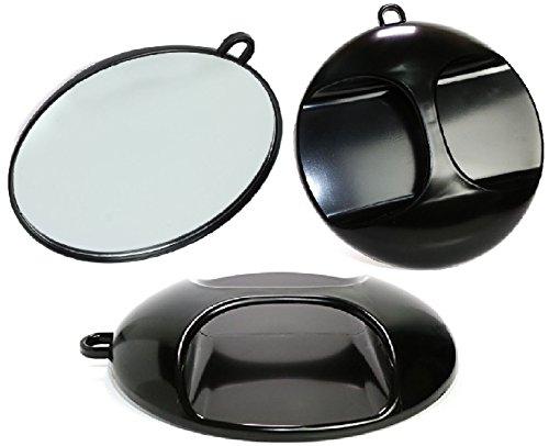teknoh–Magic Salon–Schwarz Rund m. Aufhänger Spiegel–Hohe Qualität–Stylisten Hand Spiegel