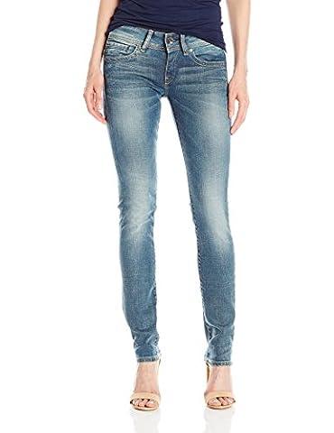 G-Star Women's Midge Saddle Mid Straight Wmn Jeans, Medium Aged, Blue (Medium Aged 071), 33W x 30L