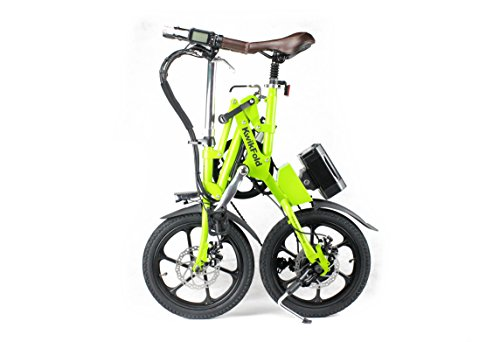 KwikFold Apple Green Aluminium wheels Folding Bike