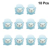 PRETYZOOM 10pcs Sheep Bath Toy Soft Funny Swimming Pool Party Toys for Christmas Birthday Baby Kids Adults Gift Toy (Sky blue)