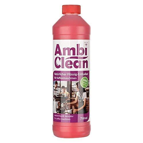 AmbiClean Flüssig-Entkalker für Kaffeevollautomat, Kaffee-Maschine, Wasserkocher etc. | 100% Biologischer Kalk-Reiniger, 750ml