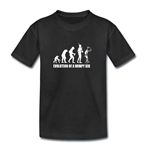 MITEES Childrens Black Evolution Of A Wimpy Kid Tshirt - Kids Girl Boys