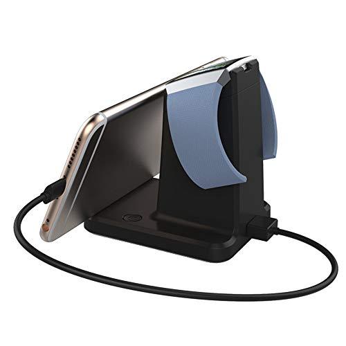 Wokee 2 in 1 Fitbit Ionic Charger Ladestation für Fitbit Blaze/Universal Phones/Tablets,Schwarz