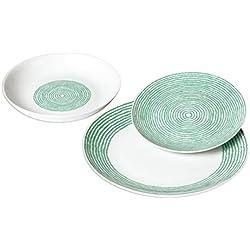 Viscio Trading Onir C & K –vajilla de 18 piezas, porcelana, color topo, 28 x 25 x 28 cm