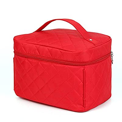 KINGSO Lady Makeup Organiser Cosmetic Container Pouch Case Box Large Capacity Portable Toiletry Travel Bag Girl