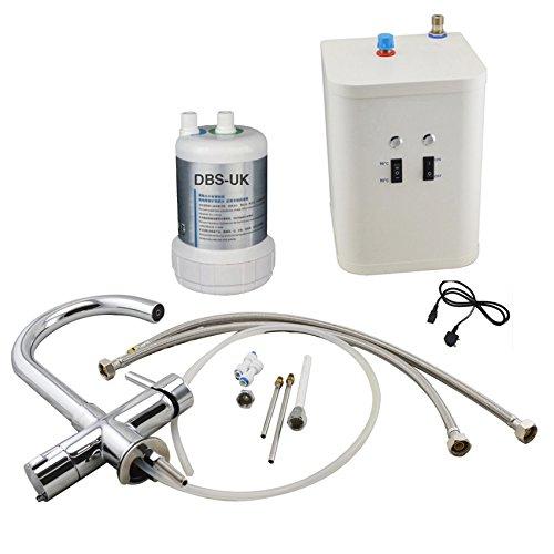 Chrom Instant Hot/Kochendes Wasser Küche Wasserhahn 3 in 1 kaltes Wasser Filter & Heizung Tank - 3