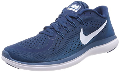 Nike Herren Flex 2017 RN Laufschuhe, Blau (Blue Force/White/Green Abyss/Black 405), 42 EU