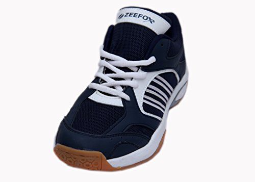 Zeefox 3300F Men's PU Badminton Shoes Navy Blue (8)