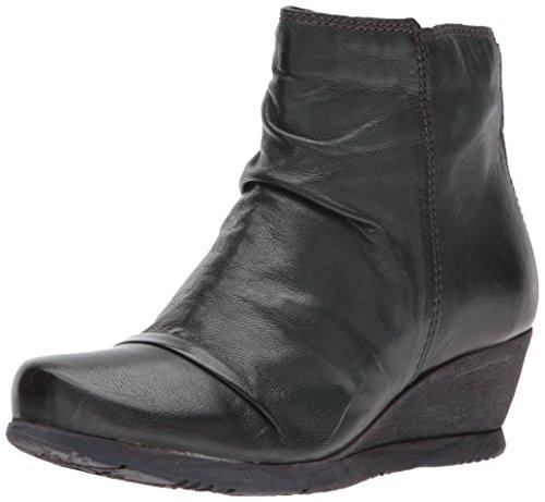 Mooz Talla Piel 5 Mujer Zapatos Negro Botas Lissie Miz 37 EU a4qOO