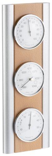 TFA Dostmann Analoge Wetterstation, aus Buche, Barometer, Thermometer, Hygrometer, Raumtemperautrkontrolle