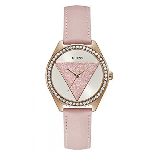 uarz Uhr mit Leder Armband W0884L6 ()