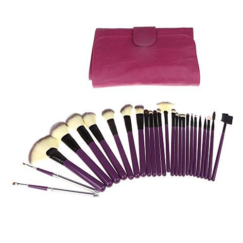 XUAN pinceau de maquillage romantique pourpre 24 set maquillage professionnel outils cosmétiques