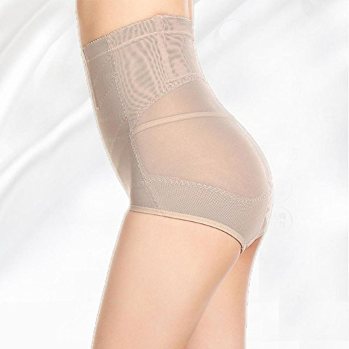 XIONGMEOW Donne Body Shaper Butt Lifter Push Up Intimo Post-parto Vita Alta Senza Soluzione Di Continuità Tummy Control Shaping Knickers Shapewear Slip beige