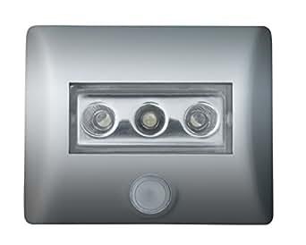 Osram LED Lampe, Nightlux, schwarz, batteriebetrieben, integrierter Bewegungsmelder, Dämmerungssensor, IP54, Tageslicht- 7000K