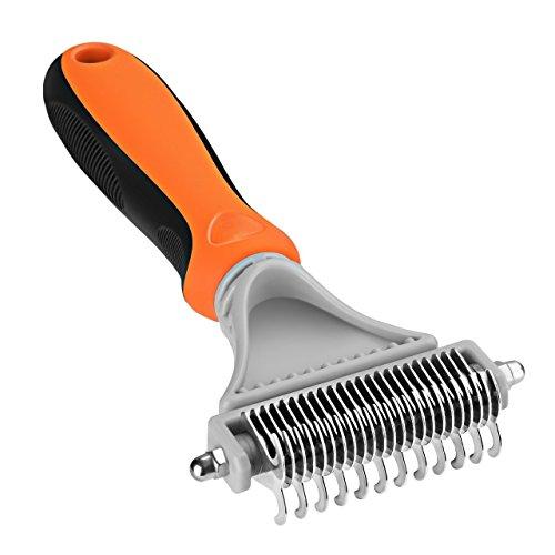 OMORC Haustierkamm, Haustierpflegebürste, entwirrendes Werkzeug, mit 23 + 12 Zacken, für kleine, mittlere, große Hunde, Katzen und Pferde mit kurzem oder langem Haar